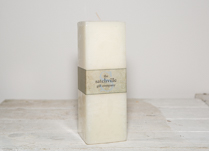 Large Unscented Square Candle