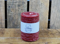 Small Christmas Berry Scented Pillar Candle