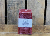 Square Christmas Berry Scented Candle