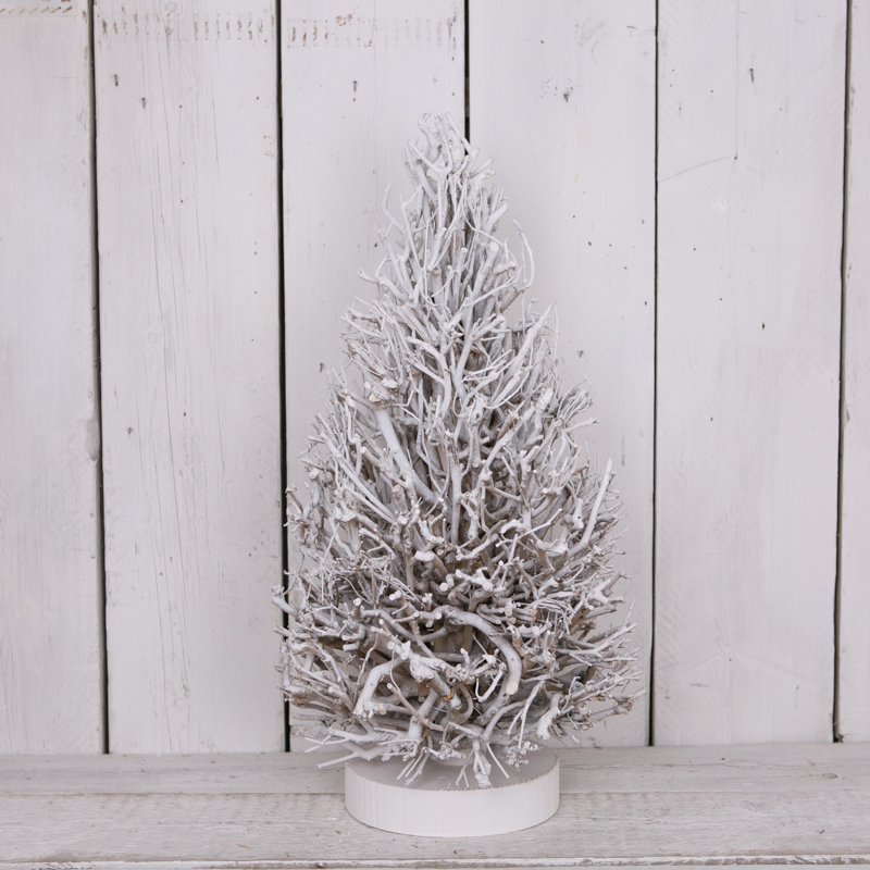 Rooted Christmas Tree: Whitewashed Root Tree I Satchville Gift Co