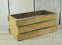 Slatted Wooden Planting Crate