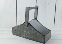 Greywashed Trug with Flexible Handle