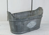 Greywashed Oval Planter