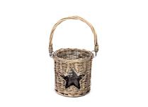 Willow Lantern with Star