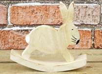 Small Wooden Rocking Rabbit