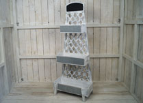 Whitewashed Wooden Plant Stand