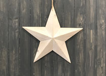 Beautiful whitewashed wooden star.