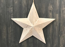 Beautiful whitewashed wooden star. This would make a great Christmas home accessory!