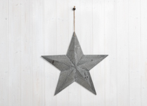Beautiful greywashed wooden star.