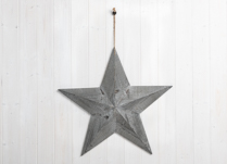 Extra Large Greywashed Wooden Star