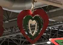 Large Metal Hanging Heart