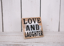 Love and Laughter Sign