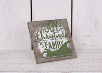 The Joy Of Christmas is Family Frame