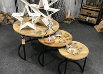 Set of Three Round Tables