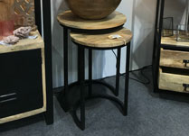 Set of Three Square Side Tables