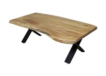 Acacia Wood Dining Table with Metal Legs