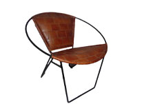 Retro Feel Brown Leather Chair