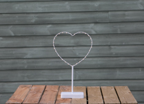 Heart Shaped LED Table Lamp detail page