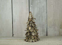Rustic birch bark Christmas tree