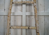 Shabby Chic Birch Branch Display Ladder