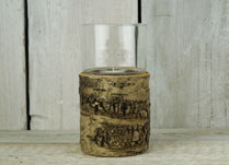 Mini Birch Bark Lantern for Wedding Centrepiece