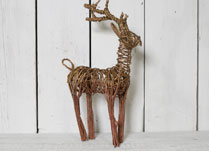 Gold and Copper Wicker Deer