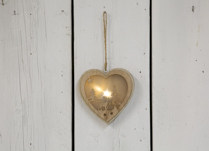 LED Heart with Christmas Tree and Reindeer with hanging option in a natural look