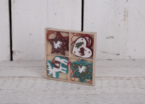 Christmas Hanging Decorations with Heart, Star, Tree and Reindeer, box included