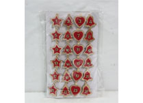 Set of 24 Numbered Red Clips