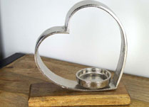 Aluminium Heart Candle Holder