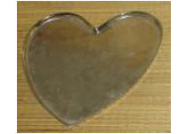 Large Aluminium Heart Shaped Tray