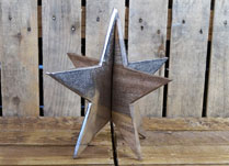 Large 3D Wooden Star