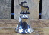 Aluminium Bell with Reindeer on Top