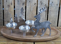 Tree and Reindeer Tealight Centrepiece