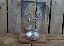 Stag's Head Silhouette Tealight Holder