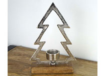 Metal Tree with Tealight Holder