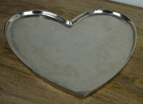 Aluminium Heart Shaped Tray