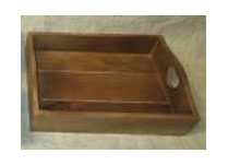 Wooden Tray with Handles and Heart Detail
