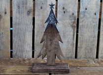 Small Wooden Alpine Tree with Aluminium Star Topper