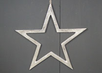 Raw Nickel Finish Star 20 cm