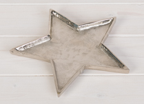 Metal trays in the shape of stars