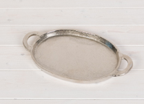 Metal Oval Tray with Handles
