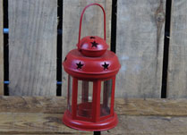 Festive Red Lantern with Star detail
