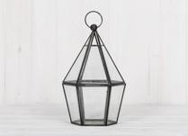 Hanging Decahedron Glass Candle Holder