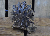 Copper Snowflake Tealight Holder