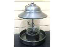 Metal Bird Feeder with Glass Tube