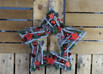 Christmas Star Wreath with Stars and Baubles