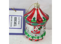 Multi Colour Carousel Hanging Glass Ornament