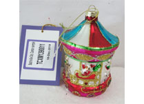 Multi Coloured Hanging Glass Carousel Ornament