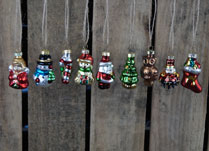 Box of 15 Christmas Glass Hanging Ornaments